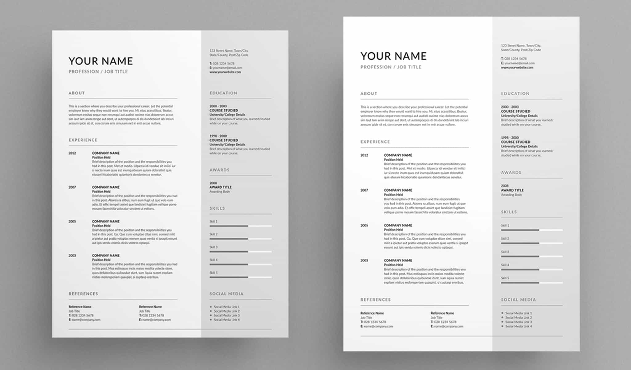 The Clean Resume