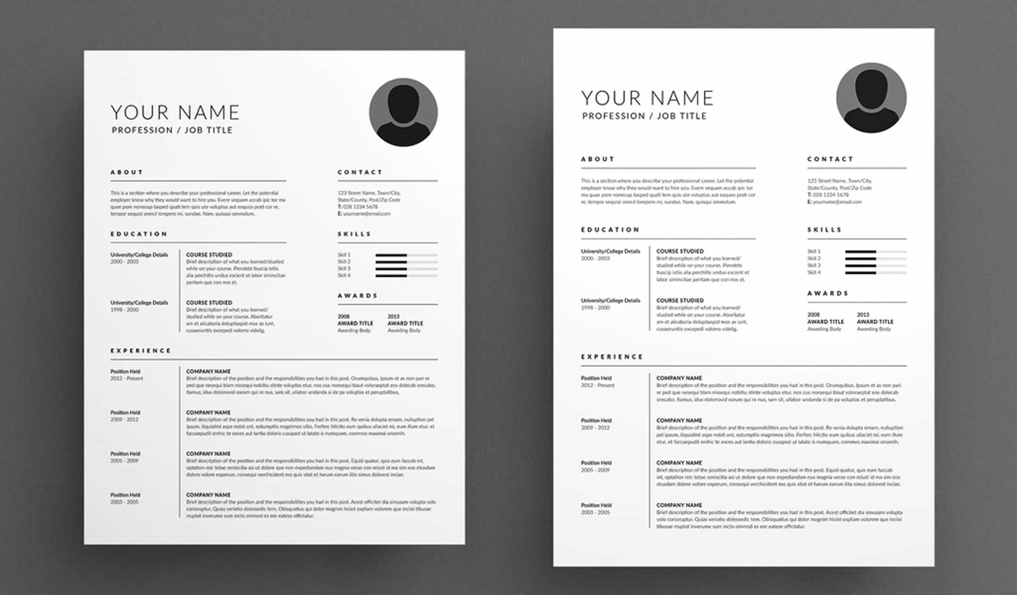 Exclusive Resume and Cover Letter Layout