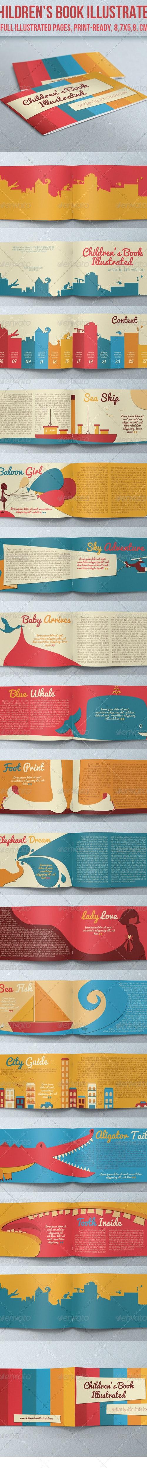 indesign children's book template