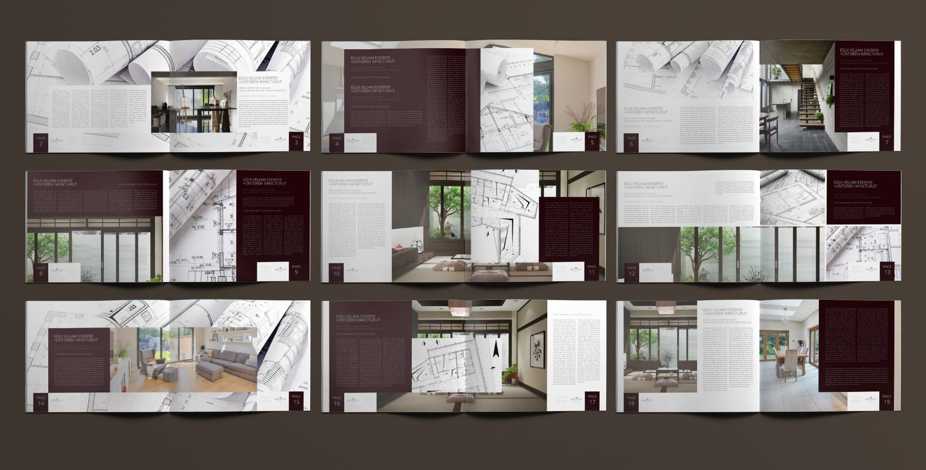 Architecture portfolio template preview
