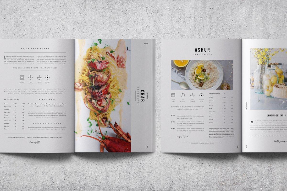 Indesign cookbook template