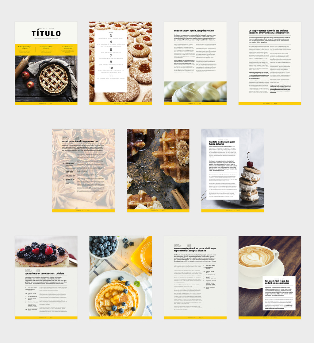 Free InDesign book template preview