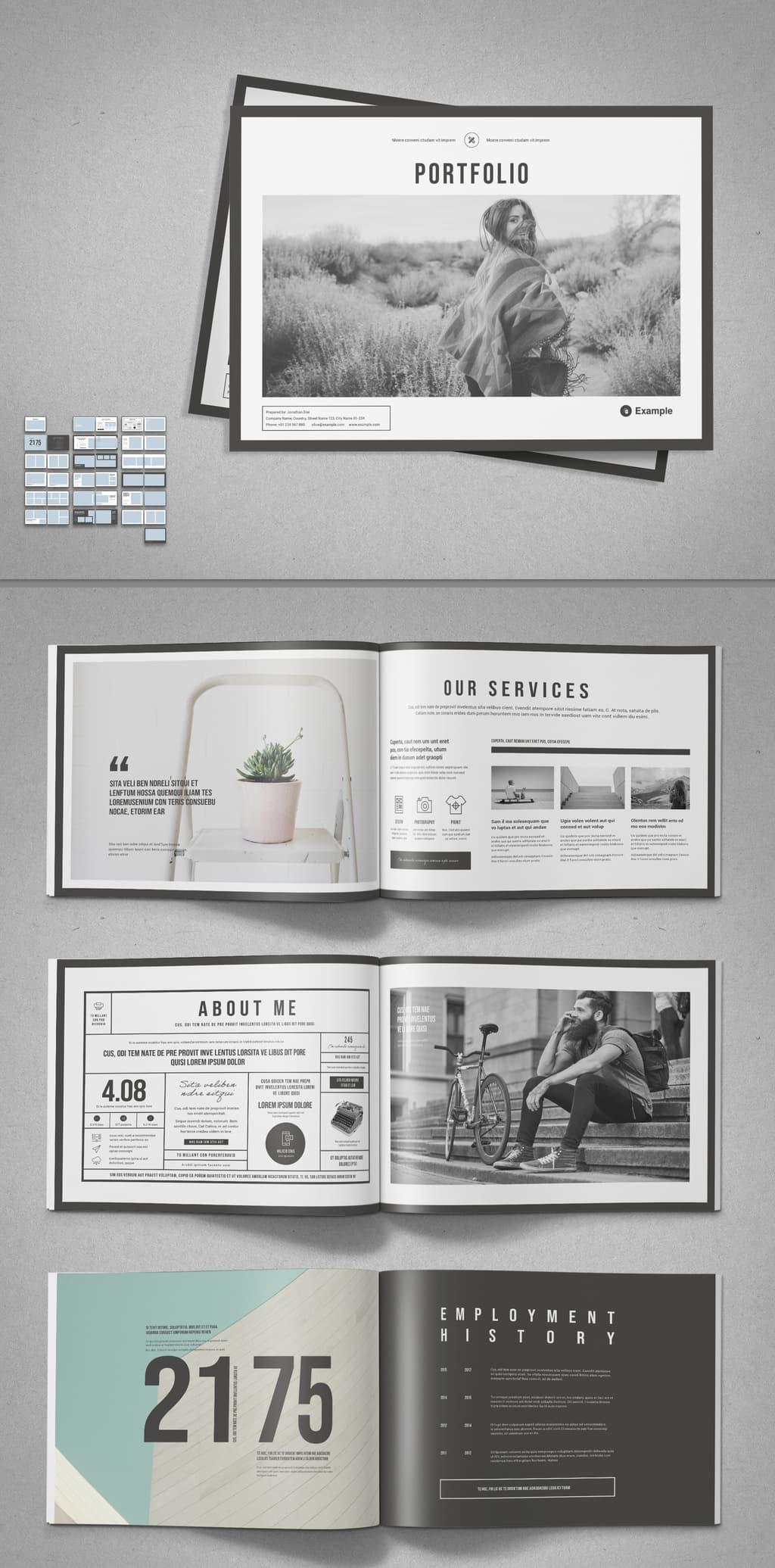InDesign Portfolio Template Preview