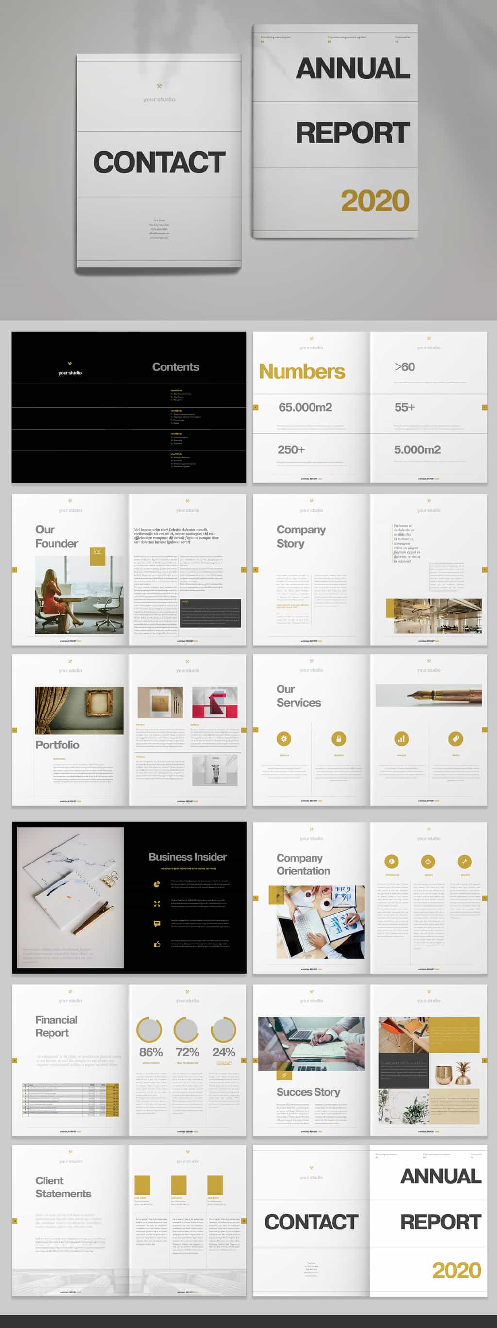 finance report template preview
