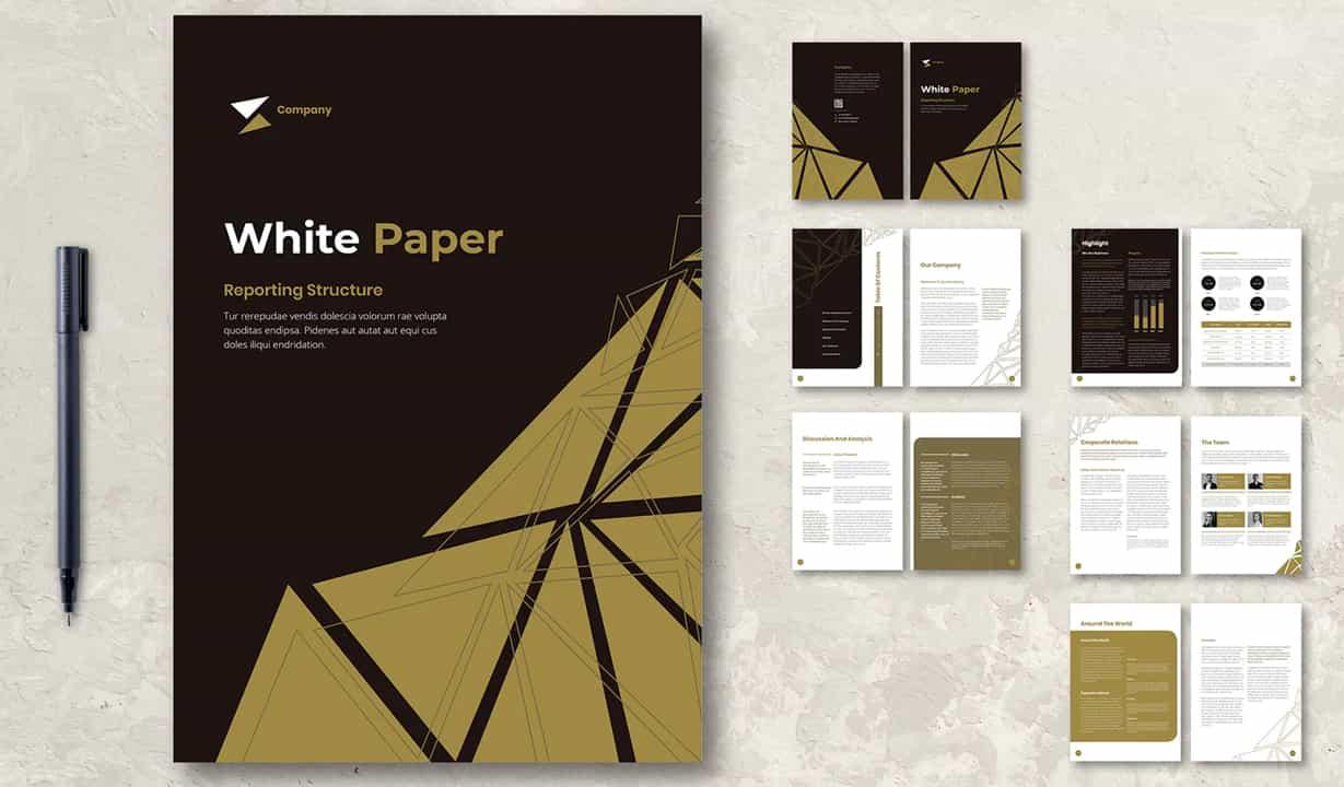 annual report design preview