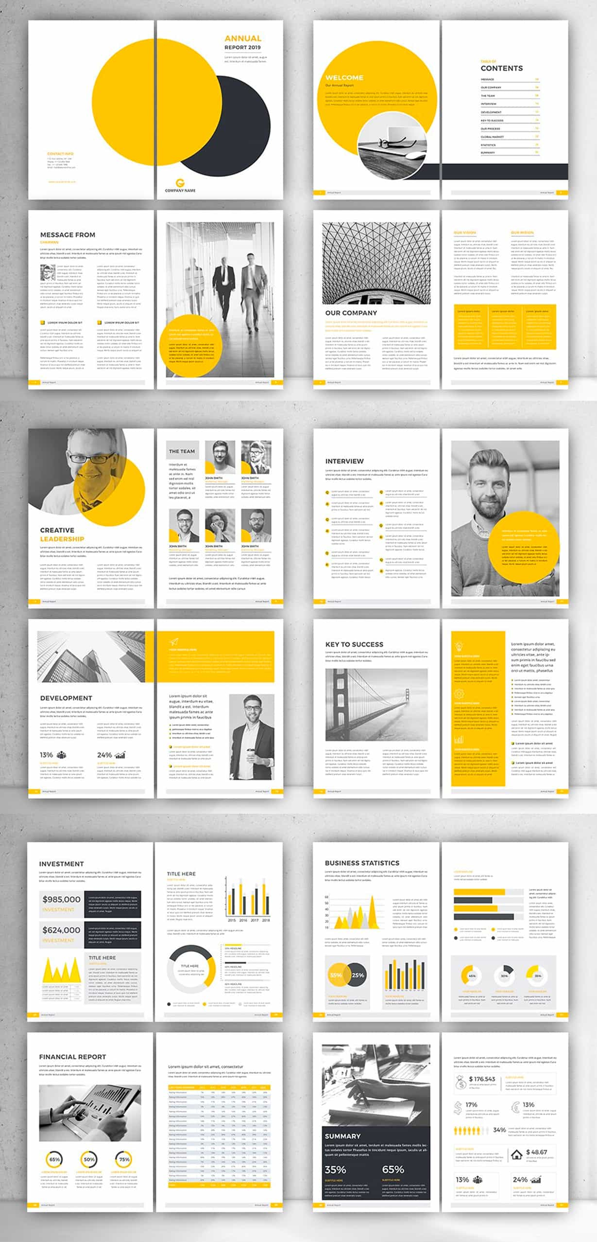 financial report template preview