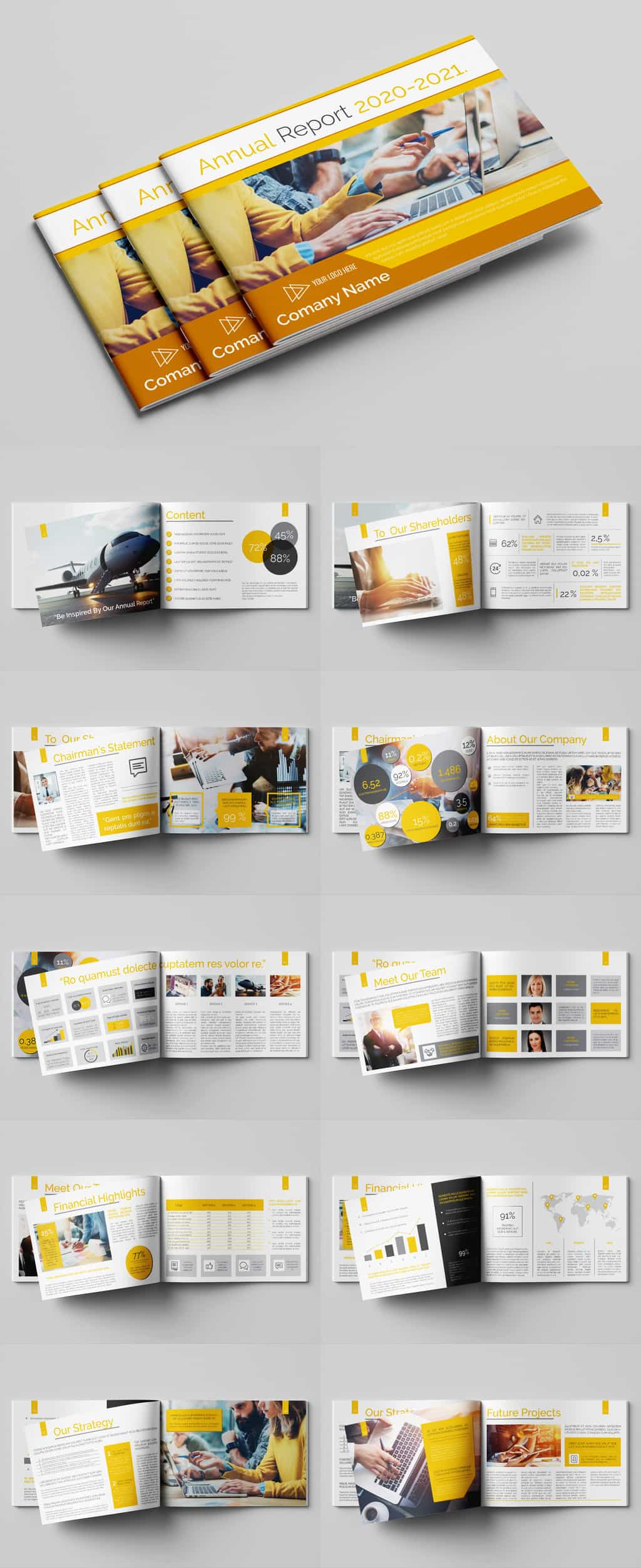 business report template preview