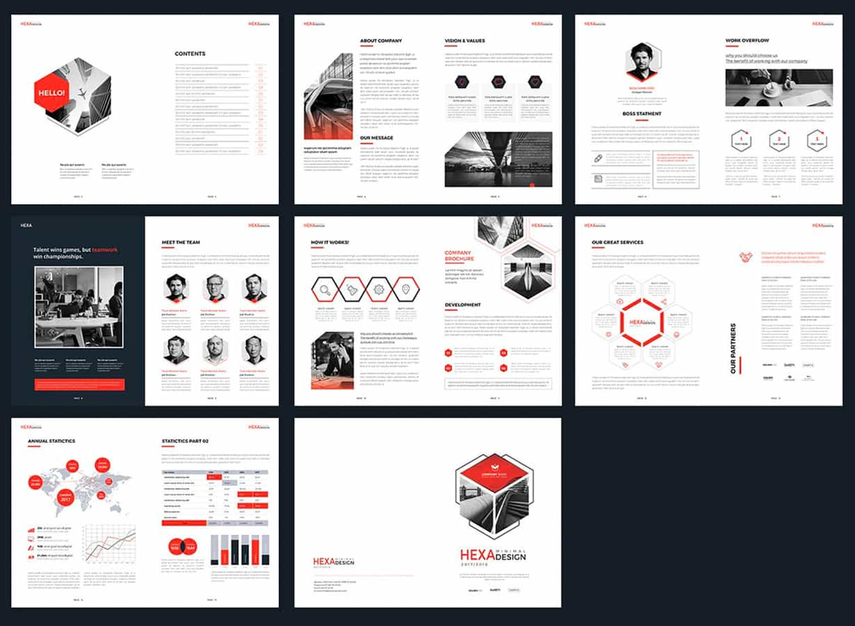 Minimal annual report template preview