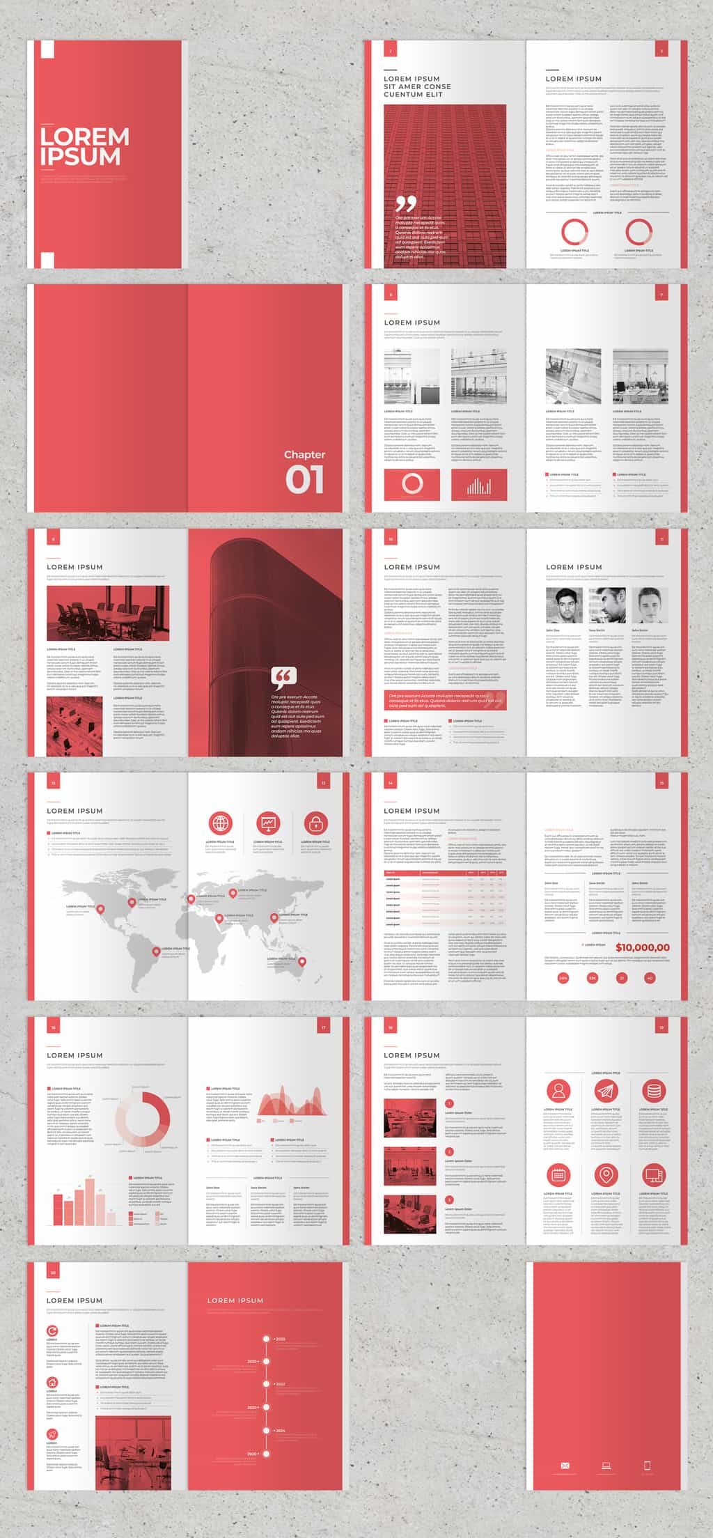 annual report template preview
