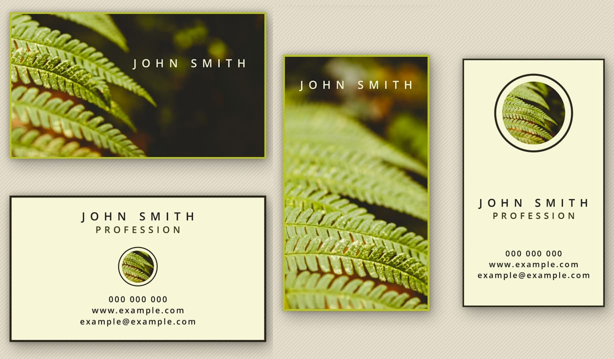 Artistic Business Cards Template Preview