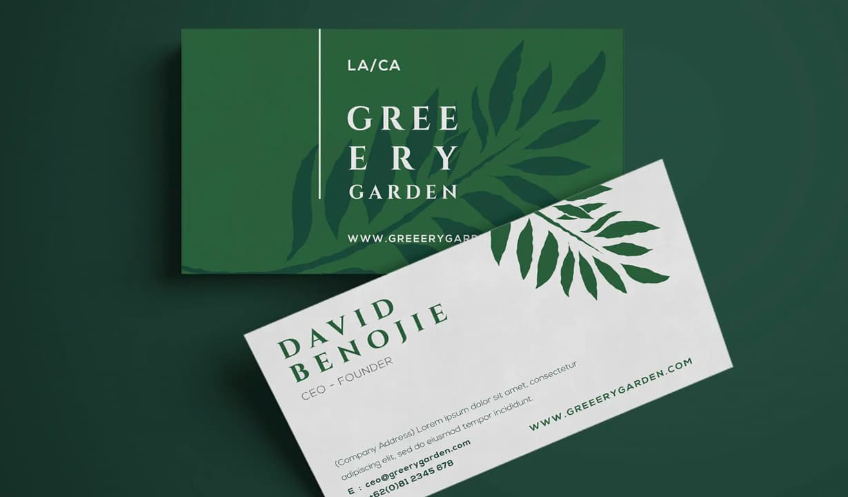 Floral Business Cards Template Preview
