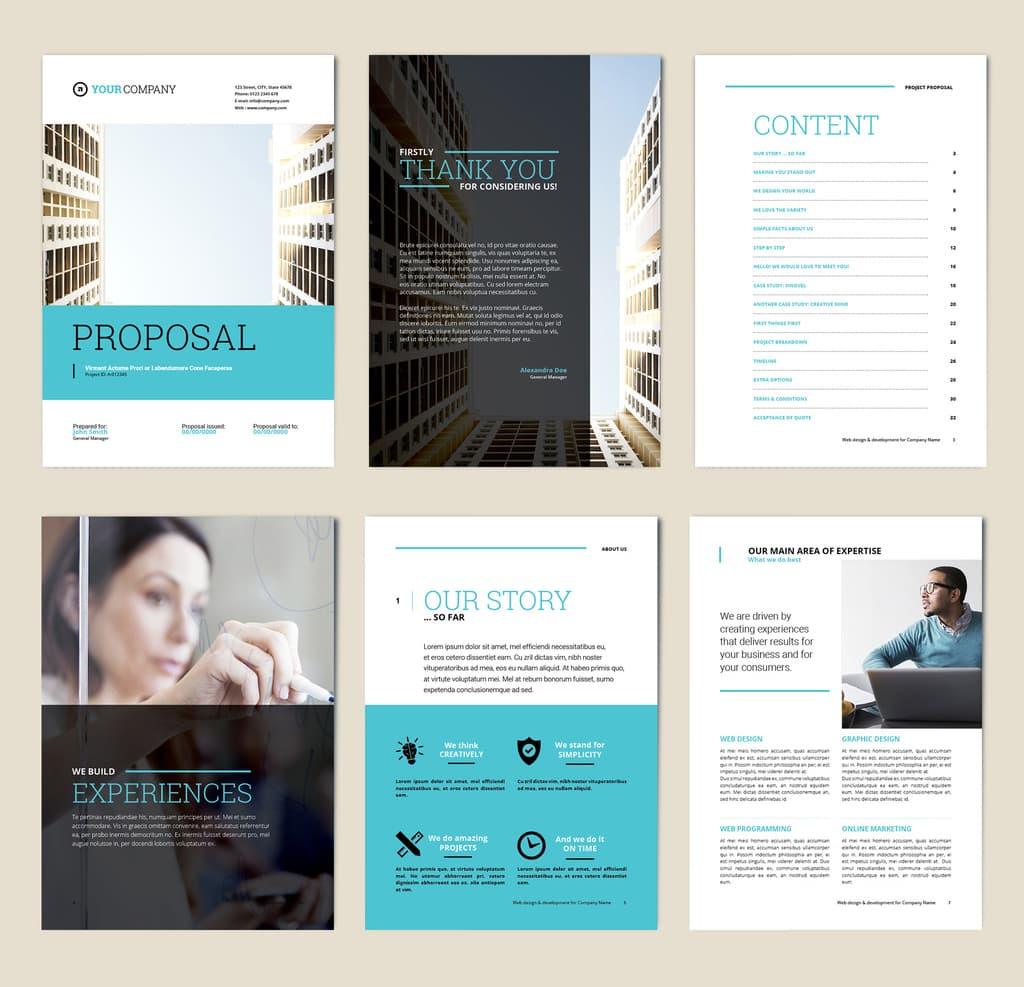 Free annual report design preview