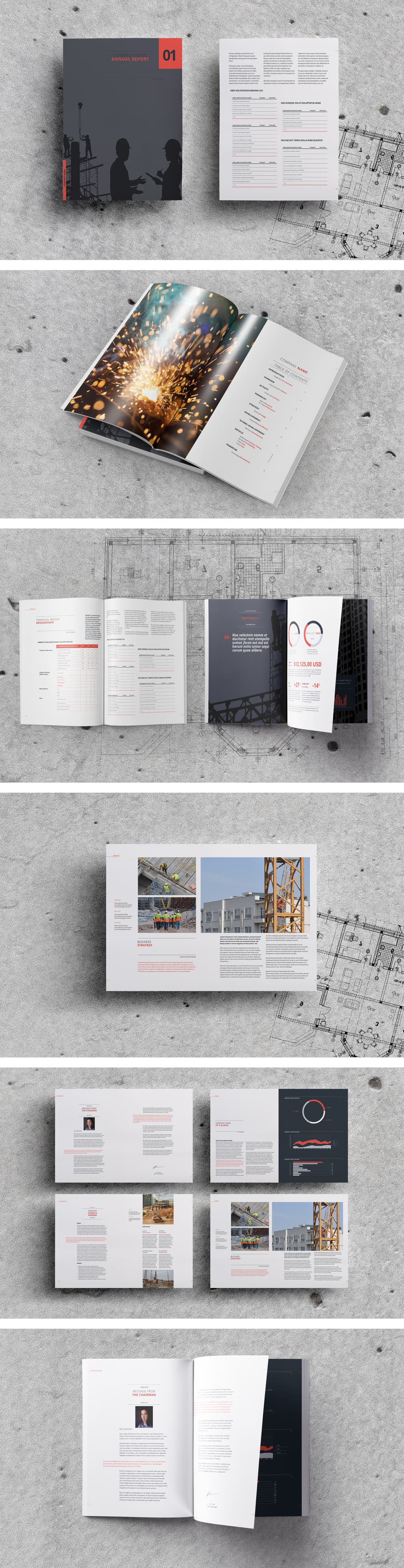 annual report template preview template