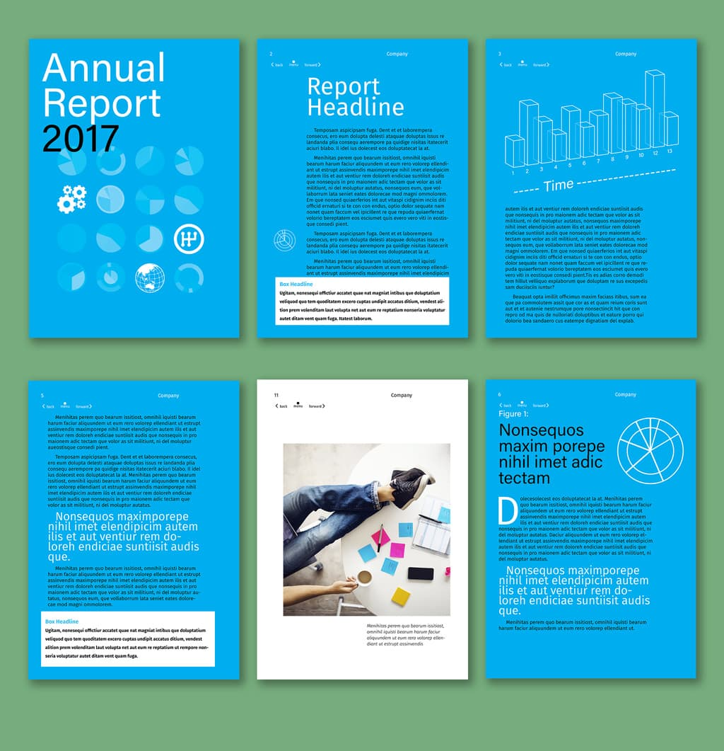 Interactive Annual Report Layout Preview