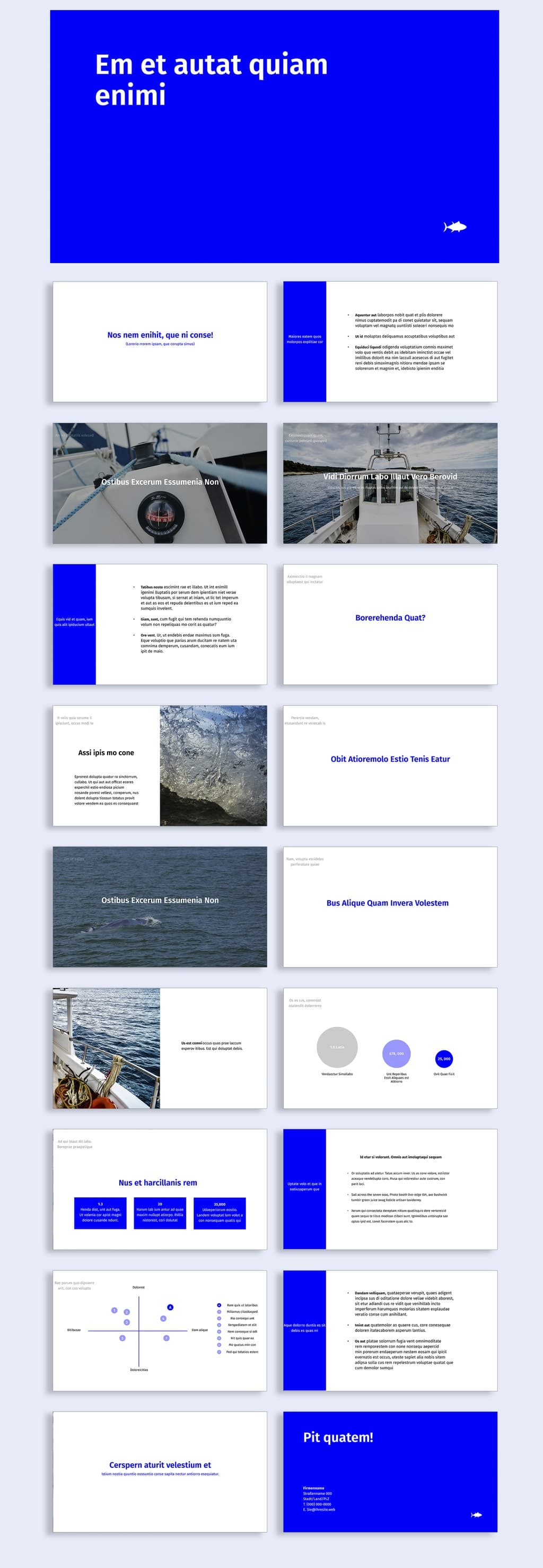 digital annual report design template preview