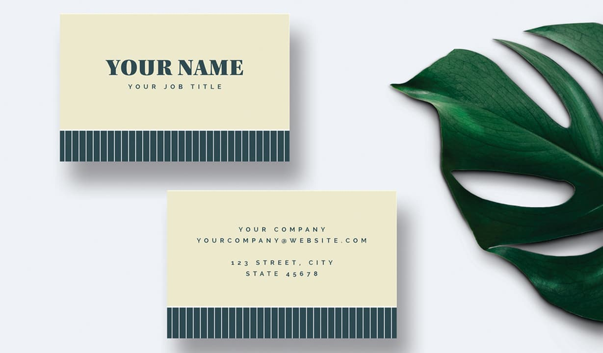 Free InDesign Business Card Template Preview