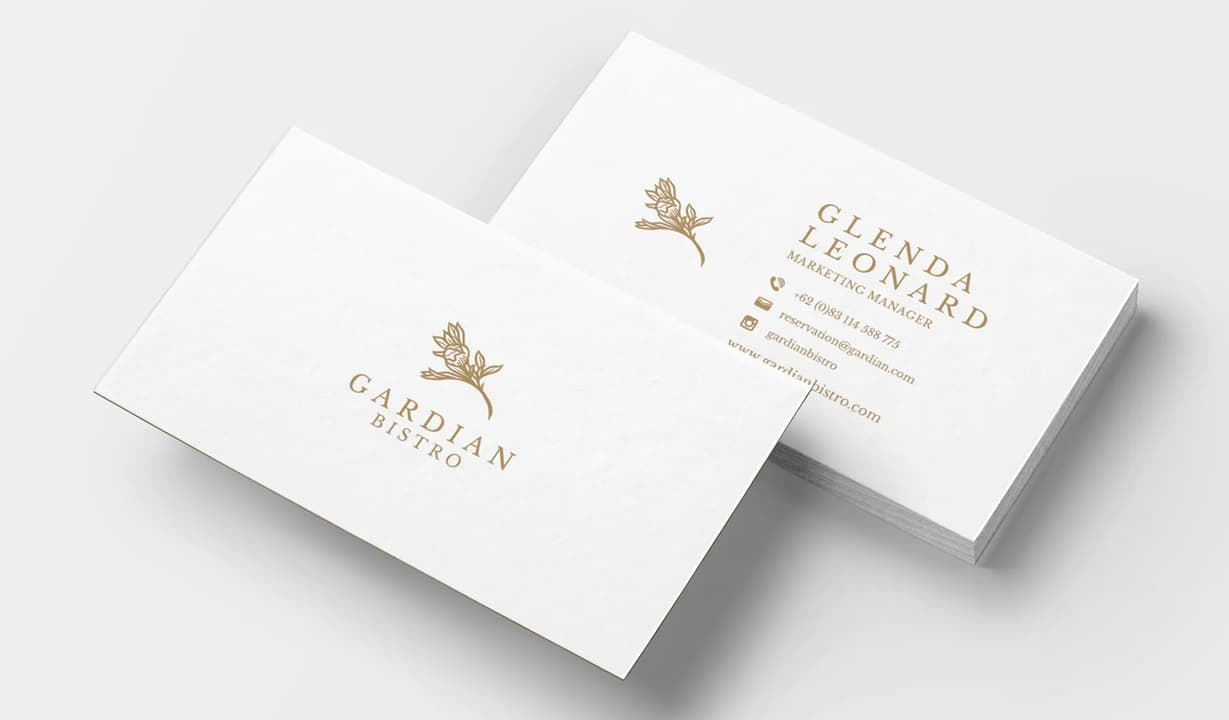 Minimalist Business Cards Template Preview