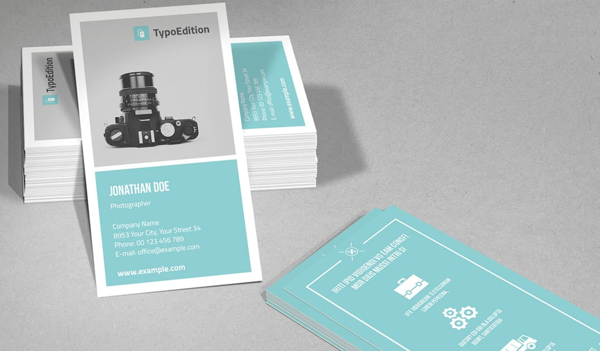 Vertical Business Card Template Preview